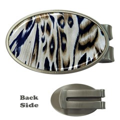 Tiger Background Fabric Animal Motifs Money Clips (oval)