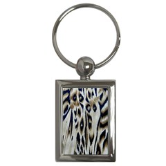 Tiger Background Fabric Animal Motifs Key Chains (rectangle)