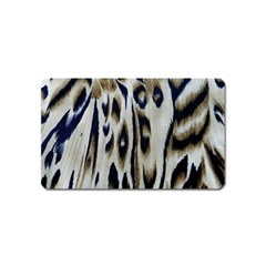 Tiger Background Fabric Animal Motifs Magnet (name Card)