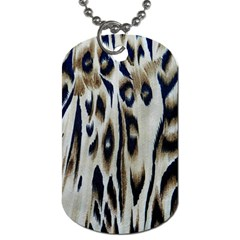 Tiger Background Fabric Animal Motifs Dog Tag (One Side)