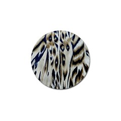 Tiger Background Fabric Animal Motifs Golf Ball Marker (4 pack)