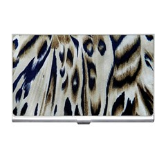 Tiger Background Fabric Animal Motifs Business Card Holders