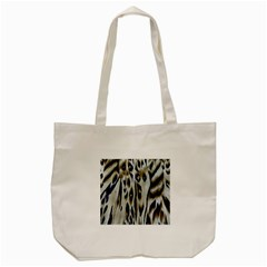 Tiger Background Fabric Animal Motifs Tote Bag (Cream)