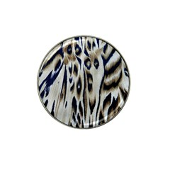Tiger Background Fabric Animal Motifs Hat Clip Ball Marker (10 pack)