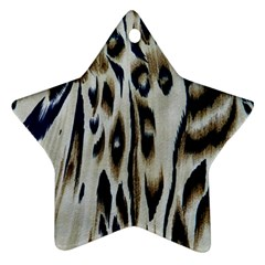 Tiger Background Fabric Animal Motifs Star Ornament (two Sides)