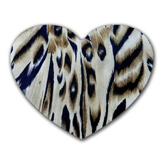Tiger Background Fabric Animal Motifs Heart Mousepads