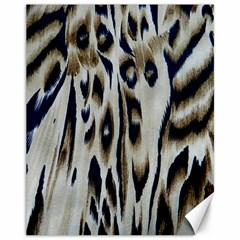 Tiger Background Fabric Animal Motifs Canvas 11  x 14
