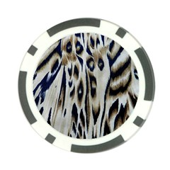 Tiger Background Fabric Animal Motifs Poker Chip Card Guard