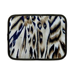 Tiger Background Fabric Animal Motifs Netbook Case (Small)