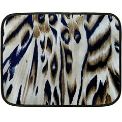 Tiger Background Fabric Animal Motifs Double Sided Fleece Blanket (mini)