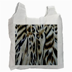 Tiger Background Fabric Animal Motifs Recycle Bag (two Side)