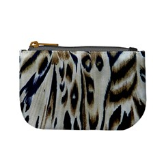 Tiger Background Fabric Animal Motifs Mini Coin Purses