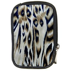 Tiger Background Fabric Animal Motifs Compact Camera Cases