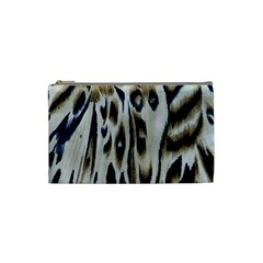 Tiger Background Fabric Animal Motifs Cosmetic Bag (small)