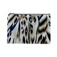 Tiger Background Fabric Animal Motifs Cosmetic Bag (large)