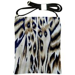 Tiger Background Fabric Animal Motifs Shoulder Sling Bags