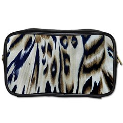 Tiger Background Fabric Animal Motifs Toiletries Bags 2 Side