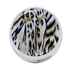 Tiger Background Fabric Animal Motifs 4-Port USB Hub (One Side)