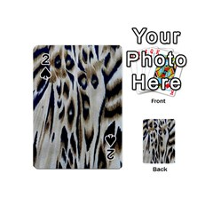 Tiger Background Fabric Animal Motifs Playing Cards 54 (Mini)