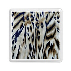 Tiger Background Fabric Animal Motifs Memory Card Reader (Square)