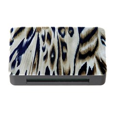 Tiger Background Fabric Animal Motifs Memory Card Reader with CF