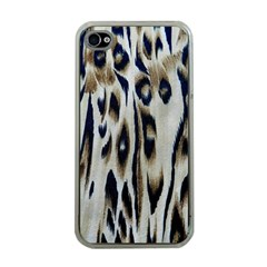 Tiger Background Fabric Animal Motifs Apple Iphone 4 Case (clear)