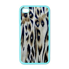 Tiger Background Fabric Animal Motifs Apple iPhone 4 Case (Color)