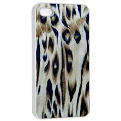 Tiger Background Fabric Animal Motifs Apple Iphone 4/4s Seamless Case (white)