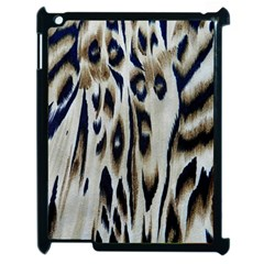 Tiger Background Fabric Animal Motifs Apple Ipad 2 Case (black)