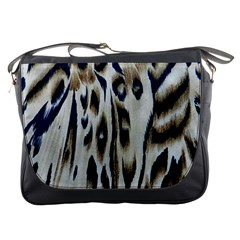 Tiger Background Fabric Animal Motifs Messenger Bags