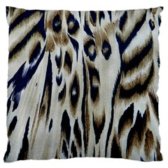 Tiger Background Fabric Animal Motifs Large Cushion Case (Two Sides)