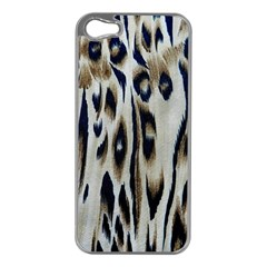 Tiger Background Fabric Animal Motifs Apple Iphone 5 Case (silver)