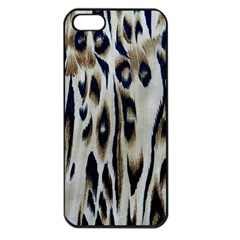 Tiger Background Fabric Animal Motifs Apple Iphone 5 Seamless Case (black)