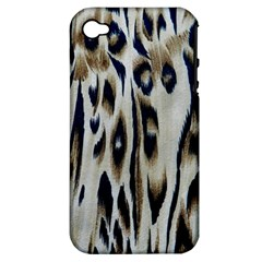Tiger Background Fabric Animal Motifs Apple iPhone 4/4S Hardshell Case (PC+Silicone)