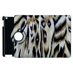 Tiger Background Fabric Animal Motifs Apple iPad 3/4 Flip 360 Case