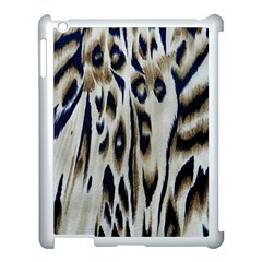 Tiger Background Fabric Animal Motifs Apple iPad 3/4 Case (White)