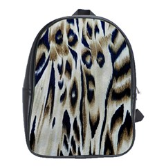 Tiger Background Fabric Animal Motifs School Bags (xl)