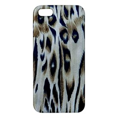 Tiger Background Fabric Animal Motifs Apple Iphone 5 Premium Hardshell Case