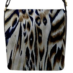 Tiger Background Fabric Animal Motifs Flap Messenger Bag (s)