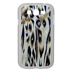 Tiger Background Fabric Animal Motifs Samsung Galaxy Grand Duos I9082 Case (white)