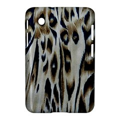 Tiger Background Fabric Animal Motifs Samsung Galaxy Tab 2 (7 ) P3100 Hardshell Case