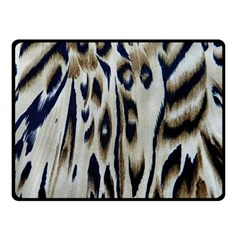 Tiger Background Fabric Animal Motifs Double Sided Fleece Blanket (Small)