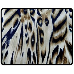 Tiger Background Fabric Animal Motifs Double Sided Fleece Blanket (medium)