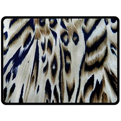 Tiger Background Fabric Animal Motifs Double Sided Fleece Blanket (Large)
