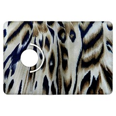 Tiger Background Fabric Animal Motifs Kindle Fire HDX Flip 360 Case