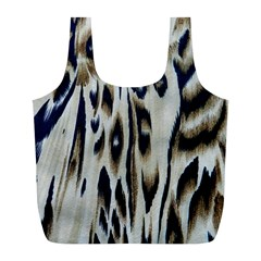 Tiger Background Fabric Animal Motifs Full Print Recycle Bags (l)