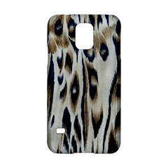 Tiger Background Fabric Animal Motifs Samsung Galaxy S5 Hardshell Case