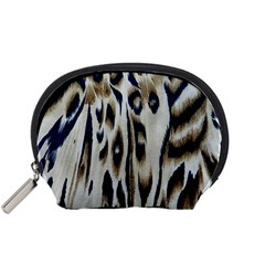 Tiger Background Fabric Animal Motifs Accessory Pouches (small)