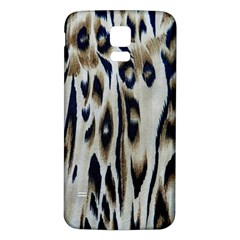 Tiger Background Fabric Animal Motifs Samsung Galaxy S5 Back Case (White)