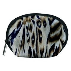 Tiger Background Fabric Animal Motifs Accessory Pouches (Medium)